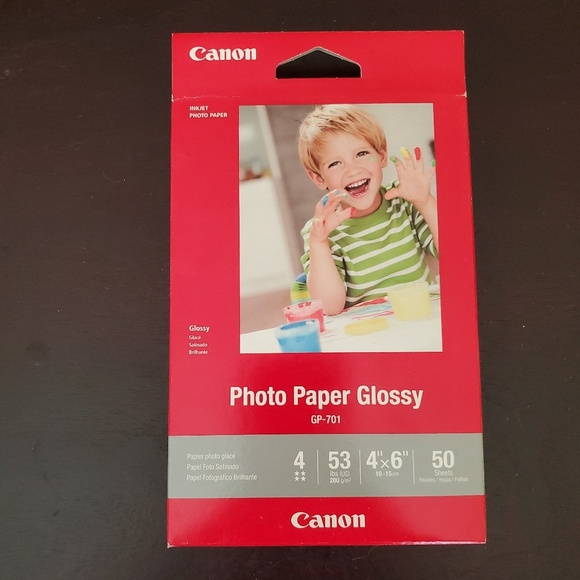 Inkjet Photo Paper NEW 4x6 Glossy Printing Paper by CANON 50 Sheets